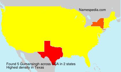 Surname Gumansingh in USA
