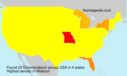 Surname Gummersbach in USA