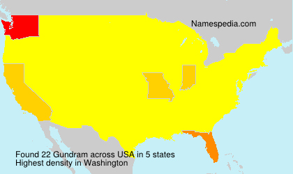 Familiennamen Gundram - USA