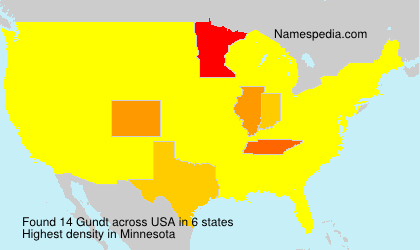 Surname Gundt in USA