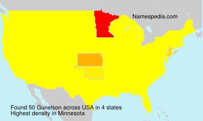 Surname Gunelson in USA