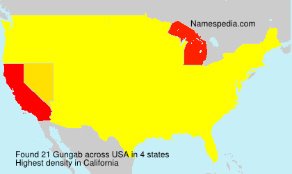 Surname Gungab in USA