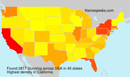 Surname Gunning in USA