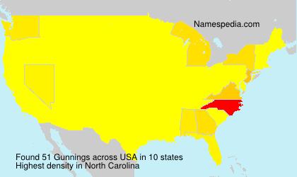 Surname Gunnings in USA