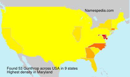 Surname Gunthrop in USA
