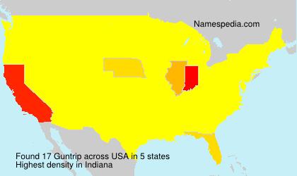 Surname Guntrip in USA