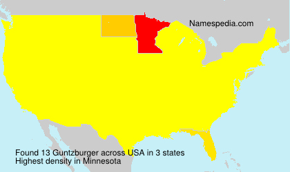Surname Guntzburger in USA