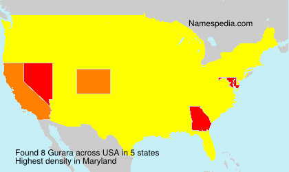 Familiennamen Gurara - USA