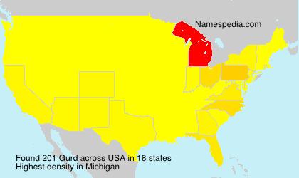 Surname Gurd in USA