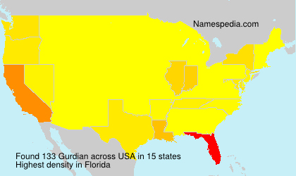 Surname Gurdian in USA