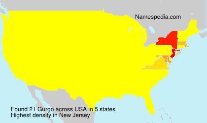 Familiennamen Gurgo - USA