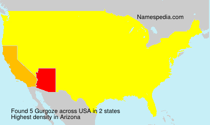 Surname Gurgoze in USA