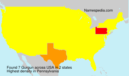 Surname Gurgun in USA
