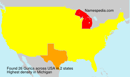 Surname Gurica in USA