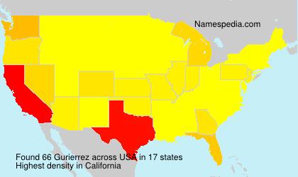 Surname Gurierrez in USA