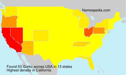 Surname Gurko in USA