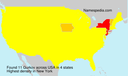 Surname Gurkov in USA