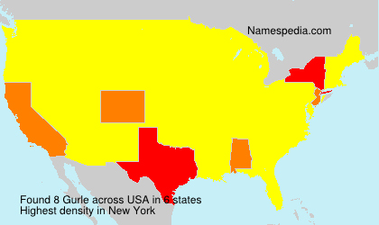 Familiennamen Gurle - USA