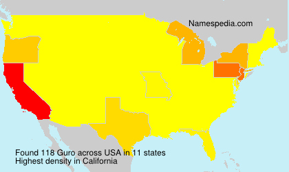 Surname Guro in USA