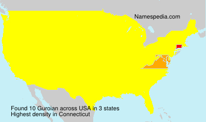 Surname Guroian in USA