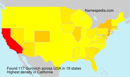 Familiennamen Gurovich - USA