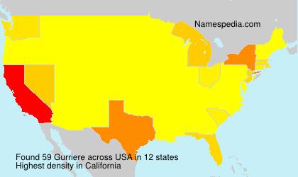 Familiennamen Gurriere - USA