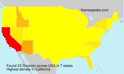 Familiennamen Gurstein - USA
