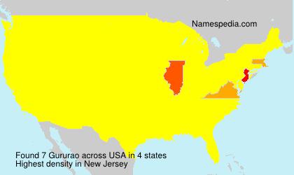 Familiennamen Gururao - USA