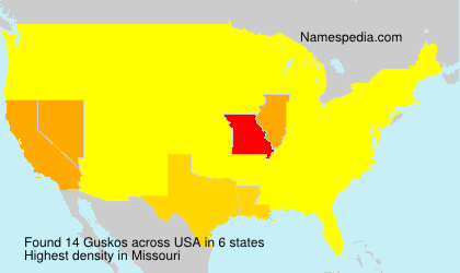 Surname Guskos in USA