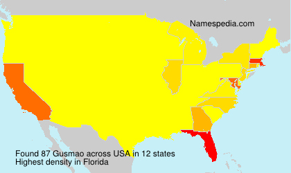 Surname Gusmao in USA