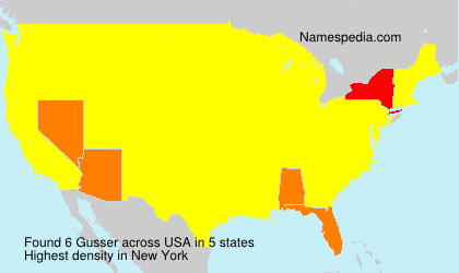 Surname Gusser in USA