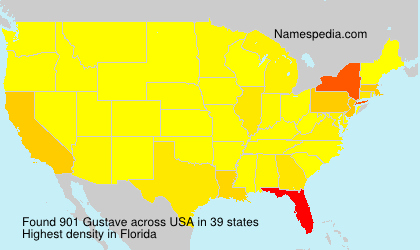 Surname Gustave in USA