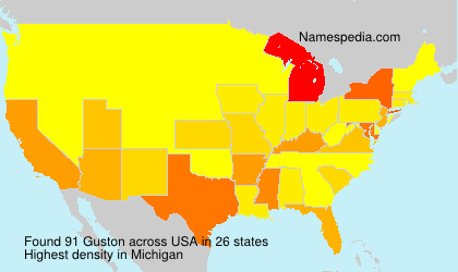 Surname Guston in USA