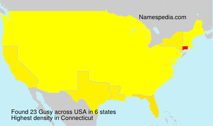 Surname Gusy in USA