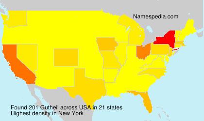 Surname Gutheil in USA