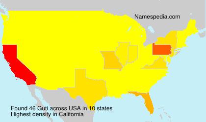 Surname Guti in USA
