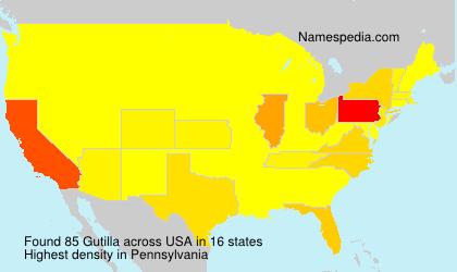 Surname Gutilla in USA