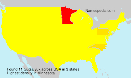 Surname Gutsalyuk in USA