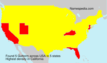Surname Guttorm in USA