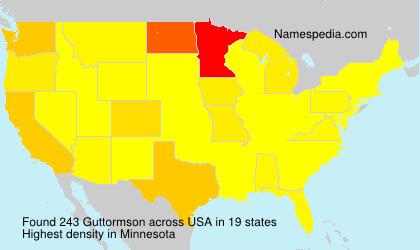 Surname Guttormson in USA