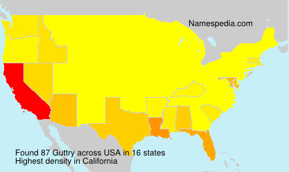 Surname Guttry in USA