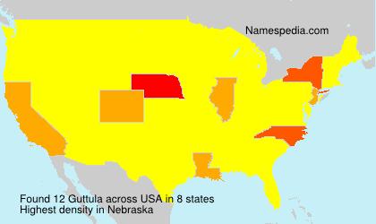Surname Guttula in USA
