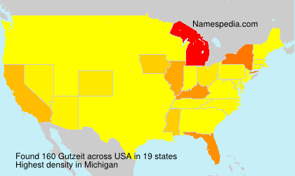 Surname Gutzeit in USA
