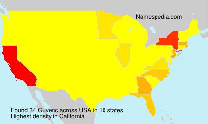 Familiennamen Guvenc - USA