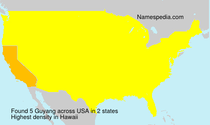 Surname Guyang in USA
