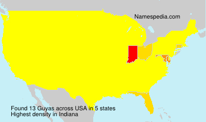 Surname Guyas in USA
