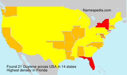 Surname Guylene in USA
