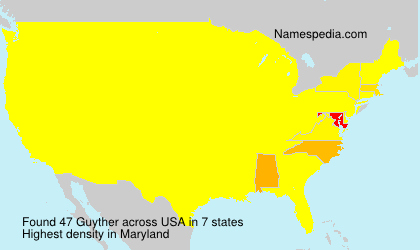 Surname Guyther in USA