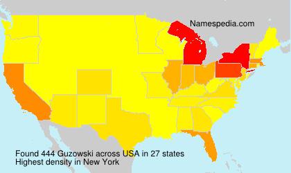 Surname Guzowski in USA