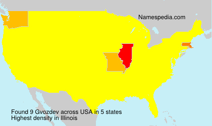 Surname Gvozdev in USA